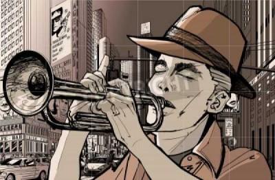 Komiks, muzyka, trąbka